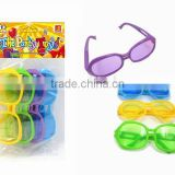 kids happy play classic ABS colorful funny party glasses with ASTM