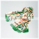 2015 Customized High Quality Silk Scarf Digital Print Porcess Service Multicolor Photo realistic