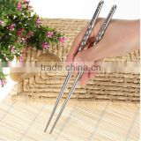 2016 Hot Sale 5Pair/lot Chinese Stylish Non-slip Design Stainless Steel Chopstick For Eating
