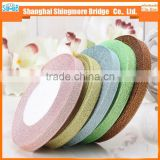 Factory direct wholesale metallic satin ribbon for garment accessories, gift craft packing and christmas decoration