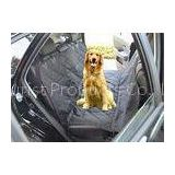 Black Quilted Removable Pet Car Seat Covers With Seat Belt Holes