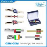 Hot sale UK UAE US Ireland country flag tie bar iron gold silver plated tin pin souvenir tie clip