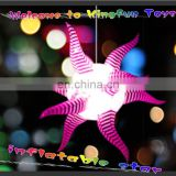 Color changed decorative hanging star for night club