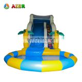 Hot !! High quality adult size inflatable water slide / used inflatable pool slide for sale