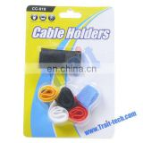 High Quality Self-adhesive Plastic Rubber USB Cable Holder OEM, Dropship Available
