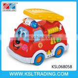 Educational fire truck electric toy cars with music and light for kids