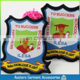 custom school logo uniform cheap woven badge patch