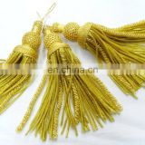 metallic thread promotional tassel - wholesale handmade new fancy french gold bullion tassel-Metallic Bullion Tassels