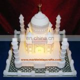 Beautiful Marble Taj Mahal, White Marble Taj Mahal With Lighting