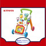 Intelligence plastic baby trolley walker with music