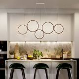 Modern restaurant creative round circle pendant rl5 ring light led