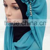 sew with an ninja underscarf 2015 big size headscarf beautiful flower one piece islamic muslim HIJAB