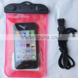 colourful waterproof mobile phone pouch with button colousre