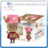 Mini Qute Bonnie kawaii boy Anime One piece Chopper DIY cartoon model building block plasticine clay educational toy NO.BN9994-1
