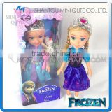 "Mini Qute 36 cm Kawaii with ""Let it go"" music electronic Plastic cartoon Frozen doll princess anna & elsa olaf children toys"