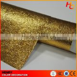 Golden aluminum color pvc self adhesive foil for furniture cover decoration with low price