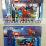 wholesale big hero 6 baymax purse and watch 2 pcs set wallet and wristwatch