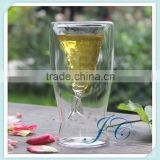 Transparent Double Wall Glass Cup/Beauty female cup/Espresso/Cappuccino glass cup