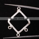 Square Shape 925 Solid Sterling Silver Wholesale Links Beads