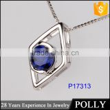 hot sale fashion 925 silver jewerly american diamond necklace sets
