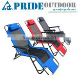 Cheap Metal Folding Beach Chaise Lounge Chair With Pillow Outdoor Wholesale Lounge Furniture
