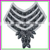 Factory OEM/ODM Garments Accessories Collar,Handmade Cheap Black Acrylic Big Beaded False Collar for Wedding Dress