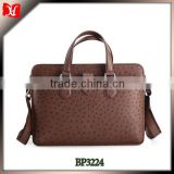 High quality genuine ostrich leather handbag in china