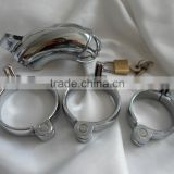 Houdini Cage Male Metal Chastity Device with 3 Rings 40mm 45mm 50mm Sex Toys Best Quality