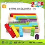 Learning Center Teaching Resource Colorful Fraction Bar Wooden Kids Educational Toys