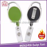 High quality carabiner style yoyo badge id card holder with back clip