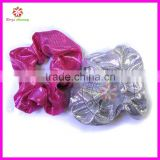 Top Quality Handmade Soft Satin Fabric girl Hair Scrunchies
