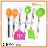 Hot sell stainless steel handle silicone household cooking ware set