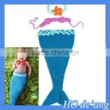HOGIFT baby hat + hand-woven wool clothes Mermaid Art Photography clothes set