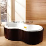 Freestanding bathtub 2 person jetted bathtubs