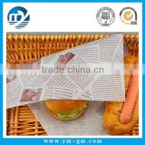 High quality hamburger packaging paper for burger wrapping