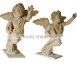Garden Decorative Hand Carved Stone Life Size Angel Statue