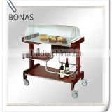 Dashing self-help stainless steel meat trolley