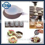 Large Size Silicone Macaron Chocolate Cream Decorating Pot with Free Nozzles Food Writing Pen Cake Mold Cream Cup for DIY Baking