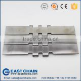 Double hinge straight running width 190.5mm 304 stainless steel flat top chain SS820-K750