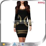 gold metallic silver foil bandage dress women christmas sweater dress sequin mini long sleeve bodycon dresses                                                                         Quality Choice