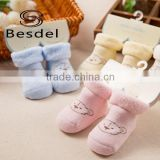 Cute baby shoe socks, new born baby cozy socks for winter