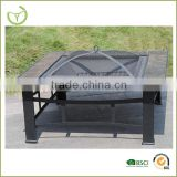 garden metal steel fireplace-metal square fire pit/outdoor fire pit