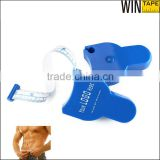 Blue Plastic Retractable Auto Logo Printed Waist Cicumference Glass Fiber Tape Body Measure Fitness
