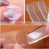 Wholesale Soft Transparent Grip Shape Waterproof Gel Sticky Shoe Cushions Invisible Clear Silicone Gel Wholesale Heel Pads