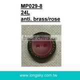 (#MP029-8/24L) ready for sale 15mm two hole sew on man braces button for suspender