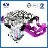 Wholesale new products color your own custom nylon bags, kids drawing diy bag                                                                         Quality Choice