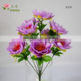 Simulation Lotus Silk Flower Water Lily Home Furnishings Stem Bouquet lianhua