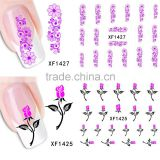 Fashion Water Transfer Nail Art Decals Stickers Cartoon Cat Flower Lips Nail Sticker Decorations DIY Tips for Nails