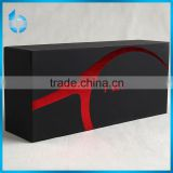 Low quantity customs paper packaging box with red foil for electronic device