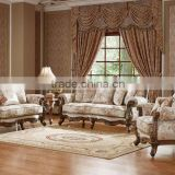 Solid Wood Hand carved Sofa&High End Amercian Sofa &Luxury Unique Carved Sofa Set